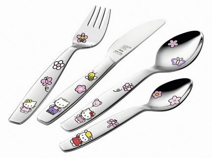 Набор детских столовых приборов Hello Kitty, 4 пр.