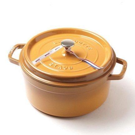 Кокот круглый (5.2 л), 26 см, горчица Staub 1102612