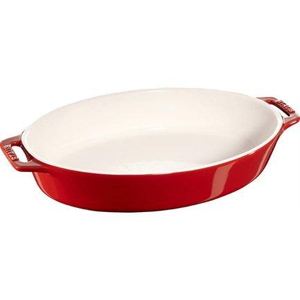 Форма овальная керамическая (1.1 л), 29 см, вишневаяФормы для запекания<br>Хорошая форма для запекания поможет вам с легкостью готовить в духовке и радовать гостей аппетитными свежеприготовленными блюдами. Гарниры, запеканки и различная выпечка великолепно готовятся в керамической форме. Вынимаются из нее они тоже легко благодаря гладкой эмалированной внутренней поверхности посуды.<br><br>Серия: Ceramique Francaise
