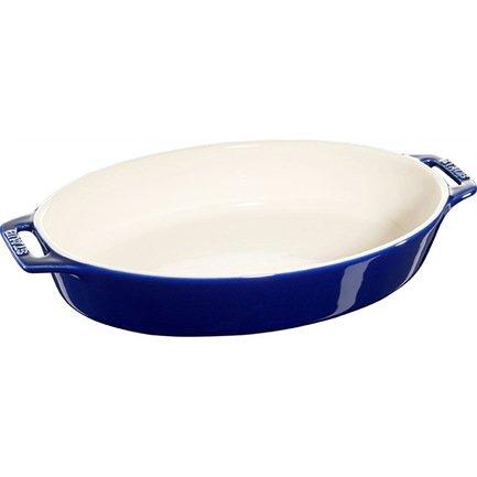 Форма овальная керамическая (1.1 л), 29 см, темно-синяяФормы для запекания<br>Хорошая форма для запекания поможет вам с легкостью готовить в духовке и радовать гостей аппетитными свежеприготовленными блюдами. Гарниры, запеканки и различная выпечка великолепно готовятся в керамической форме. Вынимаются из нее они тоже легко благодаря гладкой эмалированной внутренней поверхности посуды.<br><br>Серия: Ceramique Francaise