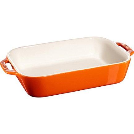 Форма прямоугольная керамическая (2.4 л), 27х20 см, оранжевая