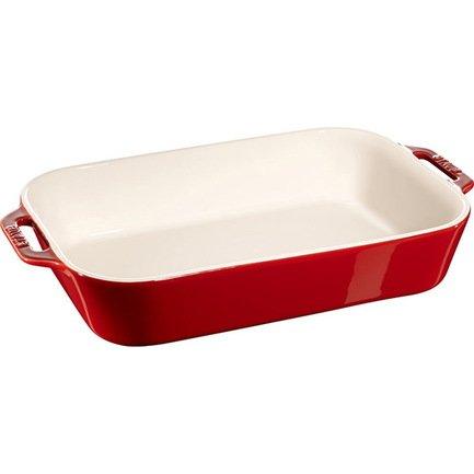 Форма прямоугольная керамическая (4.5 л), 34х24 см, вишневаяФормы для запекания<br>Яркая и стильная форма для запекания нужна тем, кто любит запекать в духовке кусочки мяса, овощей или рыбы. Она идеально подходит для порционной подачи свежеприготовленных блюд к праздничному столу.<br><br>Серия: Ceramique Francaise