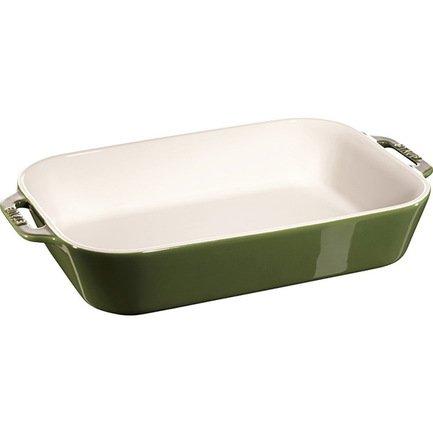 Форма прямоугольная керамическая (4.5 л), 34х24 см, зеленый базиликФормы для запекания<br>Яркая и стильная форма для запекания нужна тем, кто любит запекать в духовке кусочки мяса, овощей или рыбы. Она идеально подходит для порционной подачи свежеприготовленных блюд к праздничному столу.<br><br>Серия: Ceramique Francaise