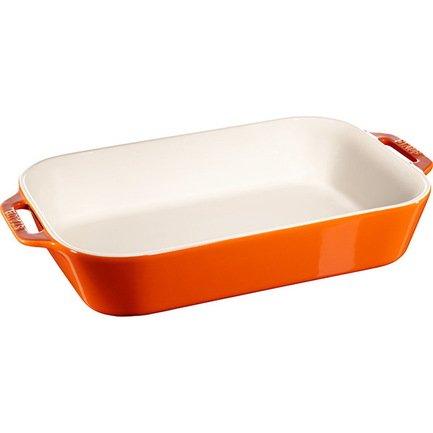 Форма прямоугольная керамическая (4.5 л), 34х24 см, оранжевая