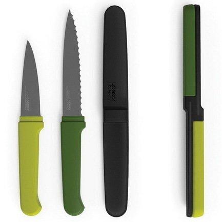 Набор ножей компактный Twin Slice, 2.5х24х2 см, зеленый, 3 пр.