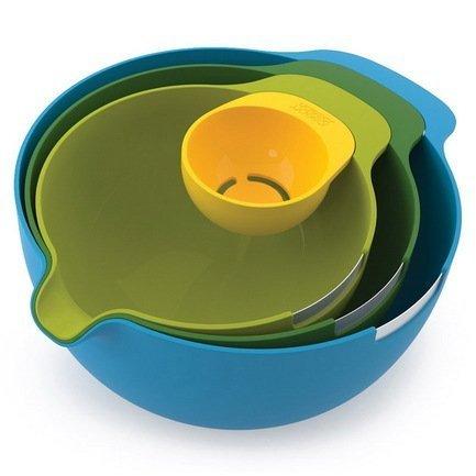 Набор мисок с отделителем белка Nest, 33х13.5х23 см, 4 пр.Миски<br><br><br>Серия: Nest<br>Состав: Миска (3.8 л), Миска (2.4 л), Миска (1.4 л), Отделитель белка