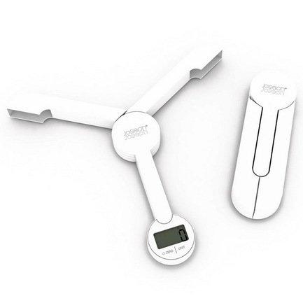 Весы кухонные складные TriScale, 21.9х2.1х20.2 см, белые Joseph&Joseph 40071
