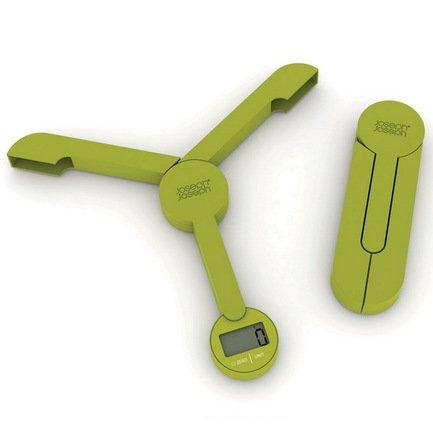 Весы кухонные складные TriScale, 21.9х2.1х20.2 см, зеленые
