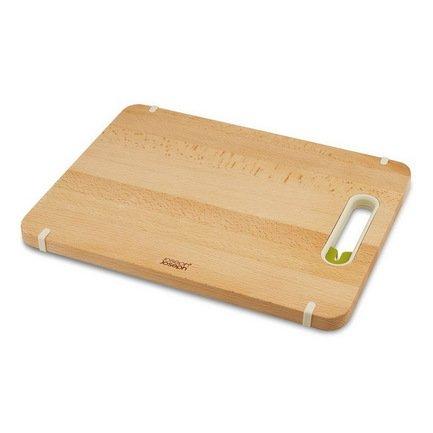 Доска разделочная с ножеточкой Slice & Sharpen, деревянная, большая, 37х2х28 см