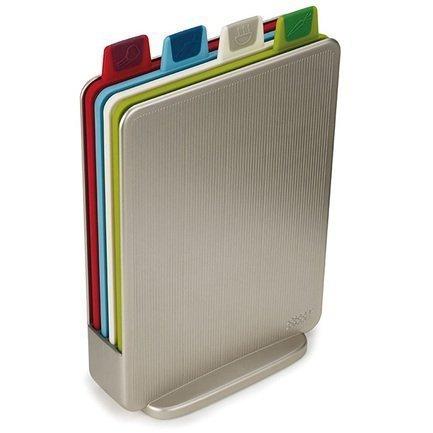 Набор разделочных досок Index Mini, 4 шт., в кейсе, 15.521.57 см, серебристый