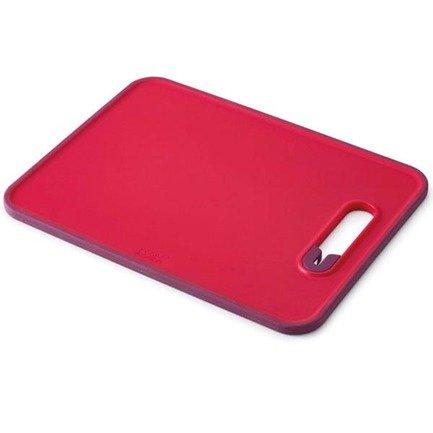 Доска разделочная с ножеточкой Slice & Sharpen, малая, 29.5х1х22.5 см, красная