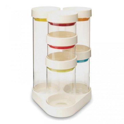 Набор ёмкостей для хранения Food Store Carousel, 20х32х21.5 см, 7 пр., белый от Superposuda