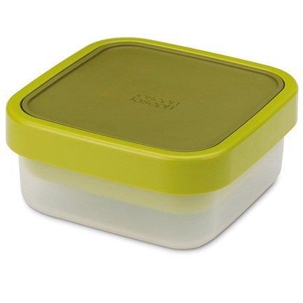 Ланч-бокс для салатов компактный GoEat, 15х6.5х15 см, зелёныйЛанч-боксы<br><br><br>Серия: GoEat<br>Состав: Верхняя емкость (0.4 л), Нижняя емкость (0.7 л), Капсула для соуса (0.02 л)