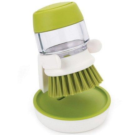Щетка с дозатором моющего средства Palm Scrub, 8.8х13.5х9.5 см, зеленая