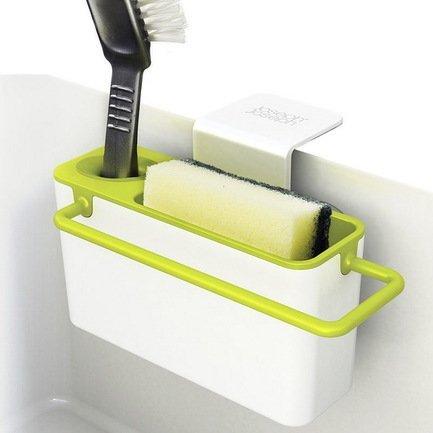 Органайзер для раковины Sink Aid, навесной, 19.5х11х13.5 см, бело-зеленый