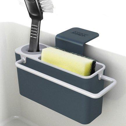 Органайзер для раковины Sink Aid, навесной, 19.5х11х13.5 см, серыйКухонные держатели и рейлинги<br><br><br>Серия: Sink Aid