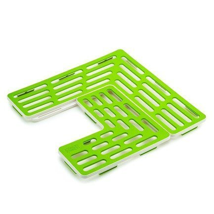 Подложка для раковины универсальная SinkSaver, 28.5х1.5х28.5 см, зелено-белая