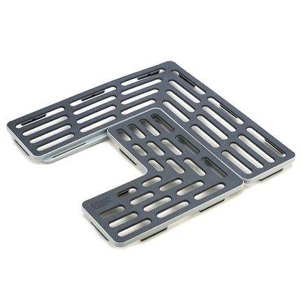 Подложка для раковины универсальная SinkSaver, 28.5х1.5х28.5 см, серо-белая