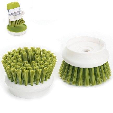 Насадки сменные для щетки с дозатором Palm Scrub, 6х4 см, 2 шт., зеленые