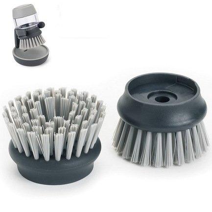 Насадки сменные для щетки с дозатором Palm Scrub, 6х4 см, 2 шт., серые