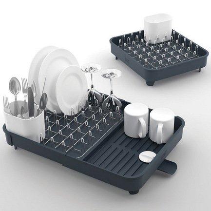 Сушилка для посуды раздвижная Extend, 32х16х36 см, серая