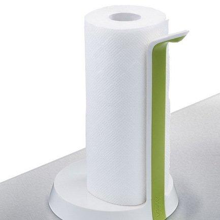 Держатель для бумажных полотенец Easy Tear, 25.5х17.5 см, бело-зеленыйКухонные держатели и рейлинги<br><br><br>Серия: Easy Tear
