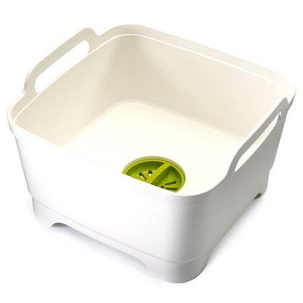 Контейнер для мытья посуды Wash&Drain, 31х30х20 см, белый