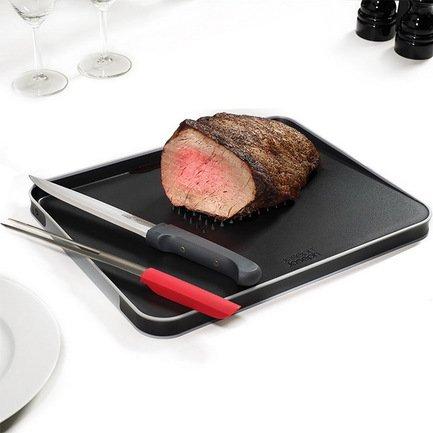 Набор для разделки мяса из доски Cut&amp;Carve и ножей, 4 пр.Разделочные доски<br><br><br>Состав: Разделочная доска - 1 шт., Нож для мяса - 1 шт., Вилка для мяса - 1 шт.,