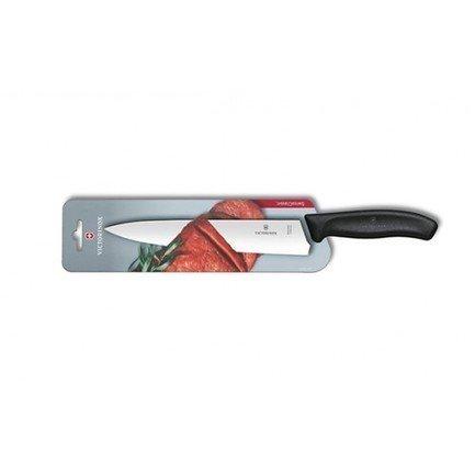 Нож разделочный Victorinox Swiss Classic, черный, 19 смУниверсальные ножи<br>Качественный и прочный нож из высококлассной нержавеющей стали. Идеален для разделки рыбы и мяса, как сырого, так и готового. Режущая кромка имеет отличную остроту заточки, а сбалансированная ручка обеспечивает комфорт и безопасность в процессе работы.<br><br>Серия: Swiss Classic