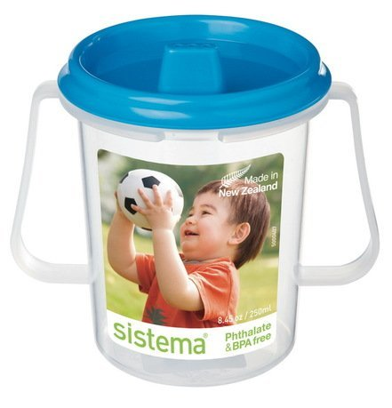 Детская чашка с трубочкой (250 мл), 11х8х10.6 см, цвета в ассортименте