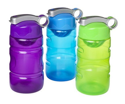 Спортивная питьевая бутылка (560 мл), 8.7х7.9х23 см, цвета в ассортименте