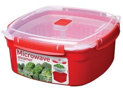 Контейнер Microwave (3.2 л), 23.8х23.8х10.7 см, квадратный, красныйКонтейнеры<br><br><br>Серия: Microwave
