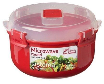 Контейнер круглый Microwave (915 мл), 15.6х9.3 см, красныйКонтейнеры<br><br><br>Серия: Microwave