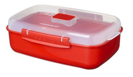 Контейнер прямоугольный Microwave (1.25 л), 23.2х14.9х7.8 см, красныйКонтейнеры<br><br><br>Серия: Microwave