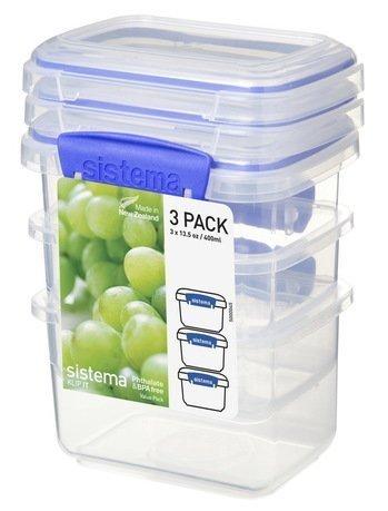 Набор контейнеров Klip-it (400 мл), 11.5х9х16 см, 3 шт., синиеКонтейнеры<br><br><br>Серия: Klip-it