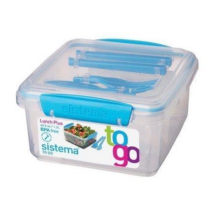 Контейнер с приборами To-go (1.2 л), 15.5х15х8 см, цвета в ассортиментеКонтейнеры<br><br><br>Серия: To-go