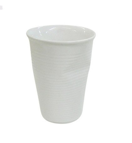 Мятый стаканчик керамический (0.24 л), белый