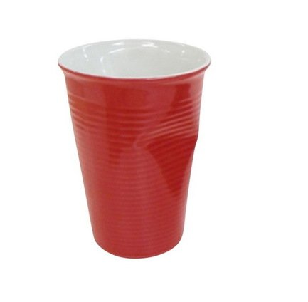 Мятый стаканчик керамический (0.24 л), красный