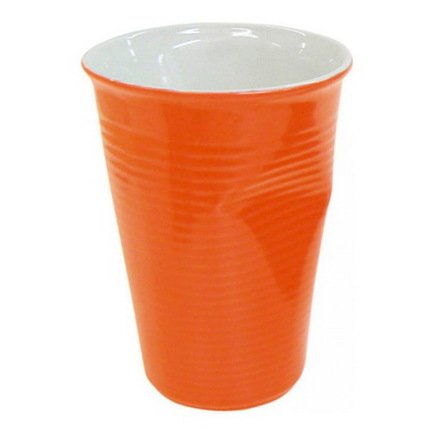 Мятый стаканчик керамический (0.24 л), оранжевый Ceraflame 080740G