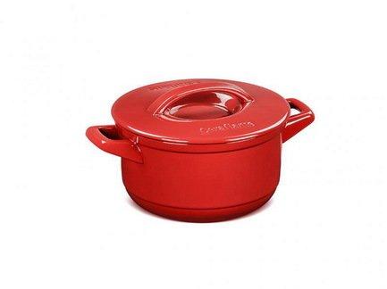 Кастрюля Duo (2.5 л), 27x20x11.5 см, красная, с керамической крышкой