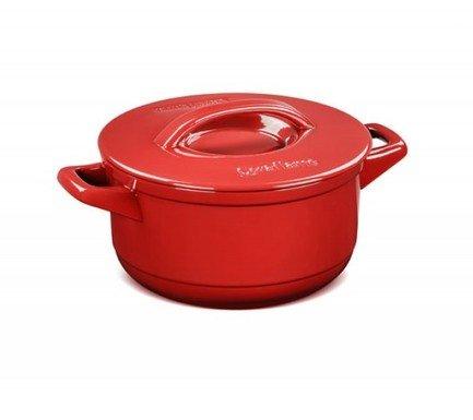 Кастрюля Duo (4.3 л), красная, с керамической крышкой