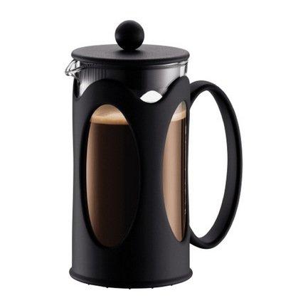 Кофейник с прессом Kenya (0.35 л), 10х10х17 см, черный