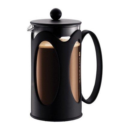 Кофейник с прессом Kenya (1 л), 14.8х11х22 см, черныйЗаварочные чайники и Кофейники<br><br><br>Серия: Kenya