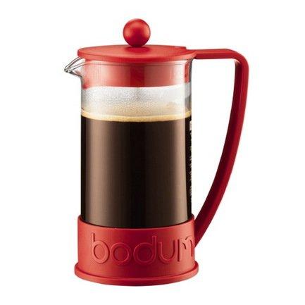 Кофейник с прессом Brazil (1 л), 11.8х15.3х23 см, красный Bodum 10938-294