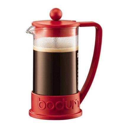 Кофейник с прессом Brazil (0.35 л), 10х10х17 см, красный
