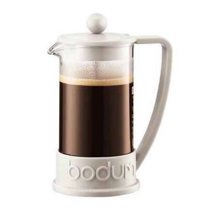 Кофейник с прессом Brazil (0.35 л), 10х10х17 см, белыйЗаварочные чайники и Кофейники<br><br><br>Серия: Brazil