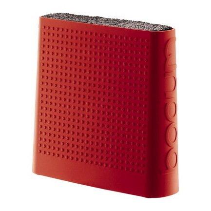 Подставка для ножей Bistro, краснаяМагнитные держатели, Подставки для ножей<br><br><br>Серия: Bodum Bistro