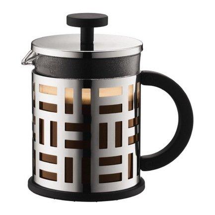 Кофейник с прессом Eileen (0.5 л), 10.6х16х16 см, хром
