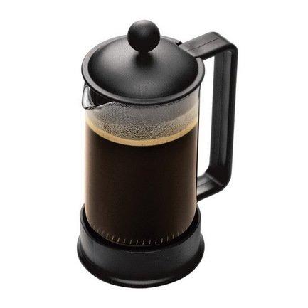 Кофейник с прессом Brazil (0.35 л), 11.3х8.4х18 см, черный