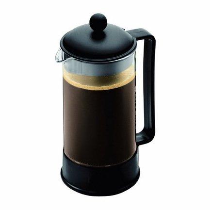 Кофейник с прессом Brazil (1 л), 13.1х10.7х24 см, черныйЗаварочные чайники и Кофейники<br><br><br>Серия: Brazil